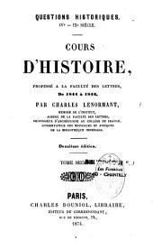Questions historiques: IVe-IXe siècles