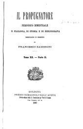 Il Propugnatore: Volume 20,Parte 2