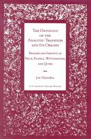 The Ontology of the Analytic Tradition and Its Origins PDF