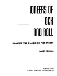 Pioneers of Rock and Roll Book
