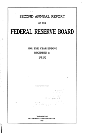 Annual Report of the Federal Reserve Board for the Period Ending December 31 ...: Volume 2