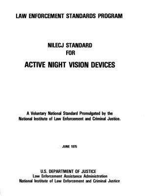 NILECJ Standard for Active Night Vision Devices