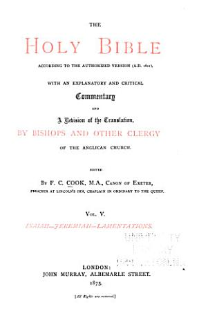 The Holy Bible  According to the Authorized Version  A D  1611  PDF