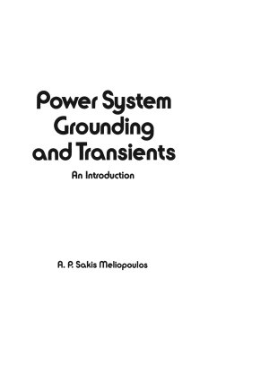 Power System Grounding and Transients PDF