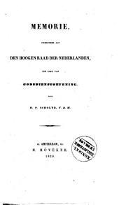 Memorie, ingeleverd aan den Hoogen Raad der Nederlanden, ter zake van godsdienstoefening