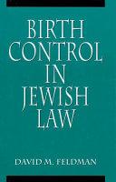 Birth Control in Jewish Law