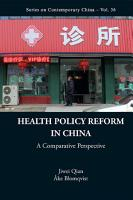 Health Policy Reform in China PDF