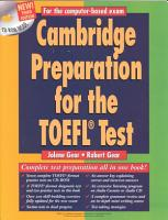 Cambridge Preparation for the TOEFL   Test Book with CD ROM PDF