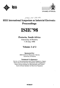 IEEE International Symposium on Industrial Electronics PDF