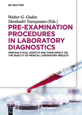 Pre Examination Procedures in Laboratory Diagnostics PDF