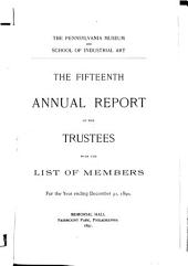 Annual Report of the Philadelphia Museum of Art: Issue 15