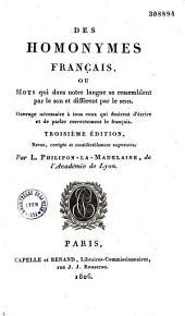 Des Homonymes français