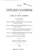 The Steward s Handbook and Guide to Party Catering PDF