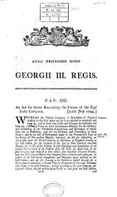 An Act for Better Recruiting the Forces of the East India Company: (12th July 1799).