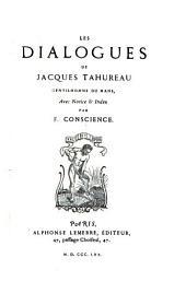Les dialogues de Jacques Tahureau
