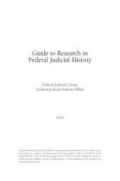 Guide to Research in Federal Judicial History