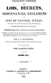 Collection complète des lois, décrets d'intérêe général, traités internationaux, arrêtés, circulaires, instructions, etc: Volume41