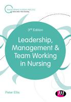 Leadership  Management and Team Working in Nursing PDF
