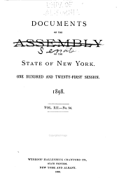 Documents of the Senate of the State of New York: Volume 12