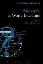 Philosophy as World Literature