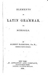 Elements of Latin Grammar
