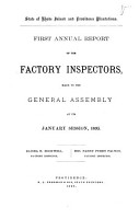 Annual Report of the Factory Inspectors PDF