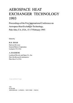 Aerospace Heat Exchanger Technology  1993 PDF