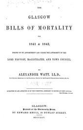 Glasgow Bills of Mortality for 1841 & 1842