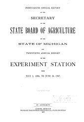 Annual Report of the Agricultural Experiment Station, Michigan State University: Volume 20