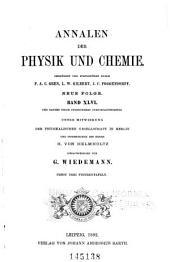 Annalen der Physik und Chemie: Band 282