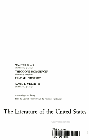 The Literature of the United State
