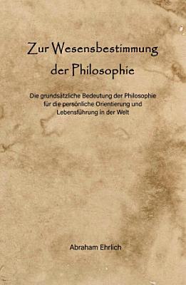 Zur Wesensbestimmung der Philosophie PDF