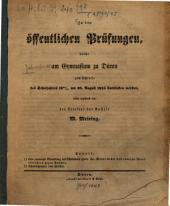 Zu den öffentlichen Prüfungen, welche am Gymnasium zu Düren zum Schlusse des Schuljahres ... stattfinden werden, ladet ergebenst ein: 1844/45