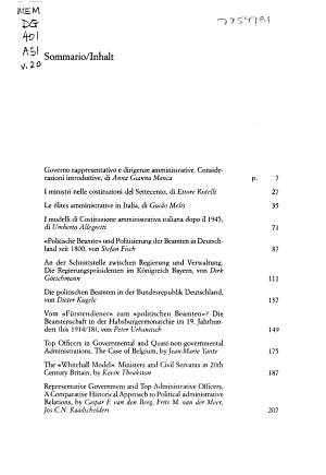 Governo rappresentativo e dirigenze amministrative  secoli XIX e XX  PDF