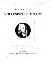 Unserm vollendeten Morus. [Verses on the occasion of his death.]