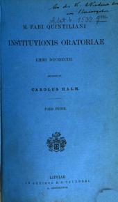 Institutio oratoria: Volume 1