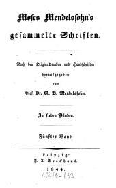 Gesammelte Schriften: in sieben Bänden, Band 5