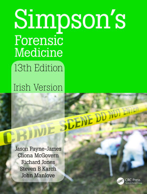 Simpson s Forensic Medicine  13th Edition PDF