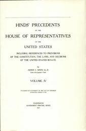 Hinds' Precedents of the House of Representatives of the United States: Quorurm, order of business, appropriation bills, committees, committee of the whole