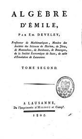 Algèbre d'Emile: Volume2
