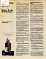 Energy Credits for Individuals PDF
