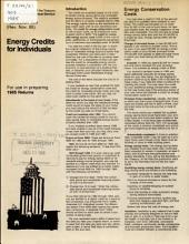 Energy Credits for Individuals