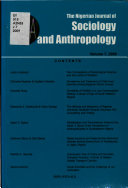 The Nigerian Journal of Sociology and Anthropology PDF