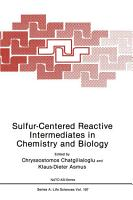 Sulfur Centered Reactive Intermediates in Chemistry and Biology PDF