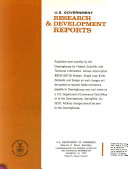 U  S  Government Research and Development Reports PDF