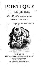 Poétique françoise: Volumes1à2
