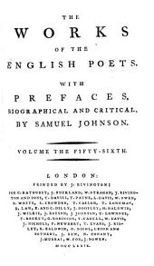 The Works of the English Poets: Lyttelton; West; Gray