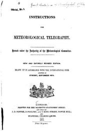 Instructions for Meteorological Telegraphy