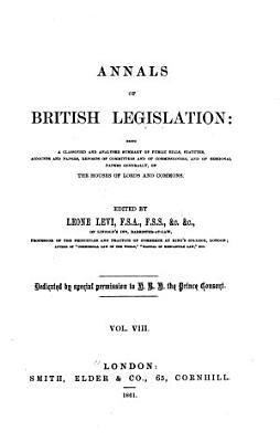 Annals of British Legislation PDF