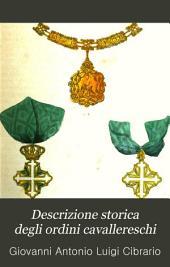 Descrizione storica degli ordini cavallereschi: Volume 1